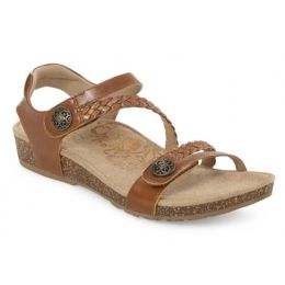 Aetrex Jillian Cognac Adjustable Strap Womens  Sandals SC452