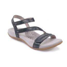 Aetrex Pewter Gabby Adjustable Strap Womens Comfort Sandals SE266