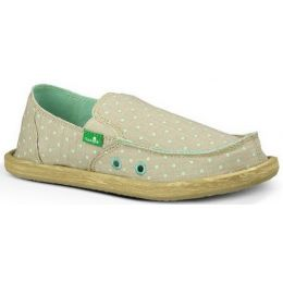 Sanuk Hot Dotty Natural Canvas Kids Casual SGF10703-NMDT