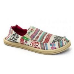 Sanuk Donna Girl Pink Multi Canvas Kids Casual SGF1055-NPNC