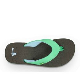 Sanuk Yoga Mat Aqua Canvas Kids Sandals SGS2914-ASKY
