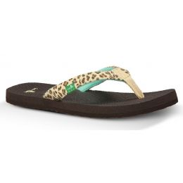 YOGA WILDLIFE Cheetah Print Comfort Flip-Flop Kids Sanuk Sandals