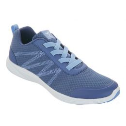 Vionic Slate Blue Shay Mesh Gored Lace Womens Sneaker Shoes