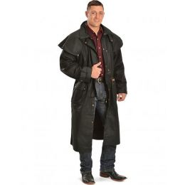 SRH/AOH Black Long Oilskin Duster
