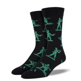 SockSmith Men's Black Army Men Socks