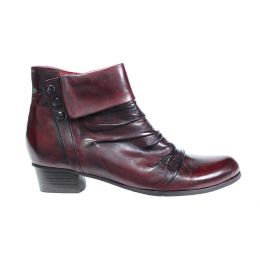 Regarde Le Ciel Sangria Leather Stefany Womens Short Booties