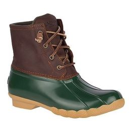 Sperry's Green Women's Saltwater Duck Boot STS90998F