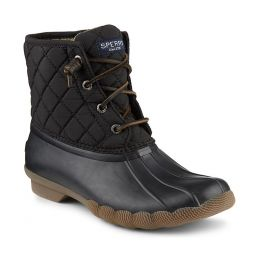 Sperry Black Saltwater Quilted Womens Duck Boots STS94063