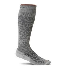 SockWell Oyster Women's Damask Moderate Graduated Compression Socks