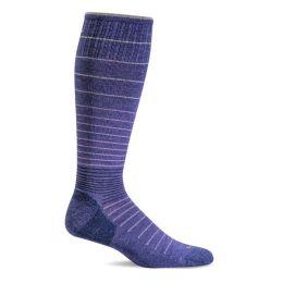 SockWell Hyacinth Purple Womens Circulator Graduated Compression Socks SW1W-310
