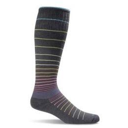 SockWell Black Strip Women's Circulator - Graduated Compression Socks SW1W