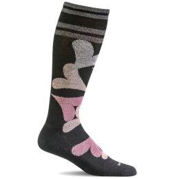 SockWell Black Womens Love Lots Graduated Compression Socks SW71W-900
