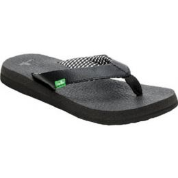 SWS2908 Black YOGA MAT Comfort Sanuk Womens Sandals
