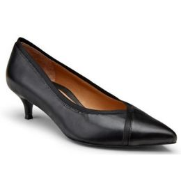 Vionic Women's Black Sylvie Kitten Heel Dress Shoe SYLVIE