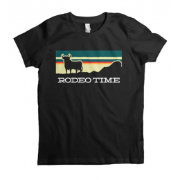 Dale Brisby Black Kids Sunset Kids Rodeo Time Tee Shirt T-K01
