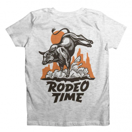 Dale Brisby White Fleck Kids Rodeo Time Rope Tee Shirt T-K08