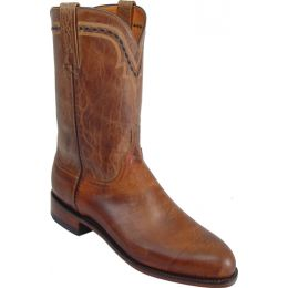 T0121.C2 Tan Mad Dog Goat Roper Lucchese Mens Western Cowboy Boots