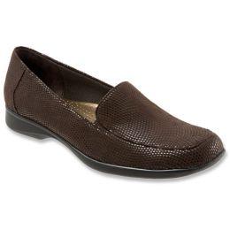 T1365-204 JENN MINI DOTS Dark Brown Patent Suede Comfort Womens Shoes
