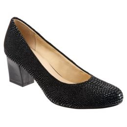 T1562-014 Black Lizzard CANDELLA Womens Trotter Dress Heels