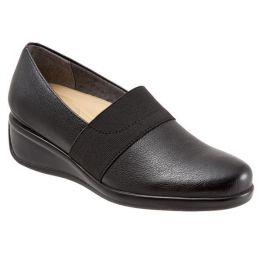 Marley Slip On Wedge Elastic Goring Comfort Trotters Womens Shoes