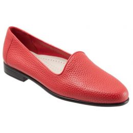 Trotters Red Liz Tumbled Womens Leather Dress Shoes T1807-600