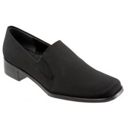 Trotters Ash Black Micro Comfort Womens Dress Shoes T4158-081