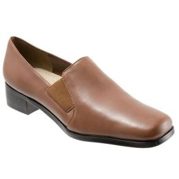 Trotter Ash Cognac Womens Comfort Dress Heels T4158-825