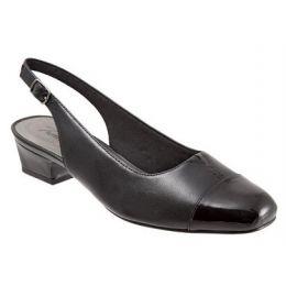 Trotters Women's Black Combo Dea Comfort Sling Back T7001