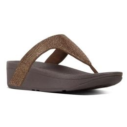 Fitflop Bronze Shimmercrystal Toe-Thong Womens Sandals T82-012
