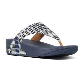Fitflop Denim Art-Denim Toe-Thong Womens Sandals T95-406