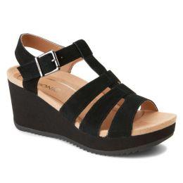 Vionic Black Tawny Womens Platform Comfort Wedges TAWNY