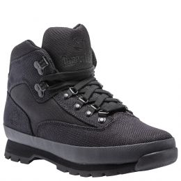 Timberland Black Knit Euro Mid Mens Hiker Shoes TB0A15RX001