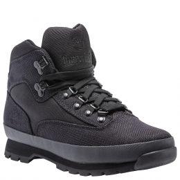 Timberland Black Knit Euro Mid Mens Hiker Shoes TB0A15RX001