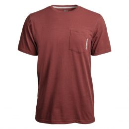 Timberland Pro Maroon Base Plate Blended Short Sleeve T-Shirt TB0A1HNS644