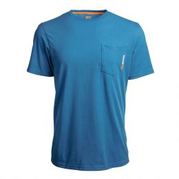Timberland Pro Blue Base Plate Blended Short Sleeve T-Shirt TB0A1HNSW96