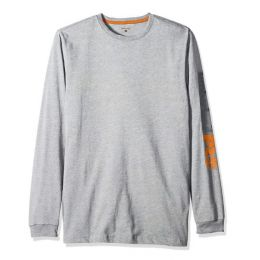 Timberland Pro Grey Blended Logo Base Long Sleeve T-Shirt TB0A1HRVC81