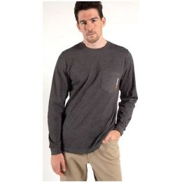 Timberland Pro Men's Dark Charcoal Heather Long Sleeve Base Plate Wicking T-Shirt TB0A1HVN013
