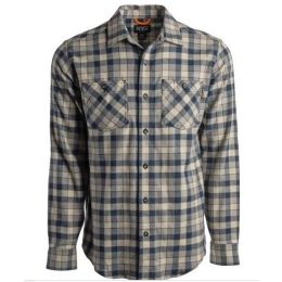Timberland Pro Navy Flannel Button Down Mens Work Shirt TB0A1P41AG1