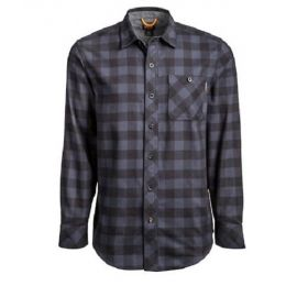 Timberland Pro Men's Navy Buffalo Button Down MId Weight Flannel Work Shirt TB0A1V49T58