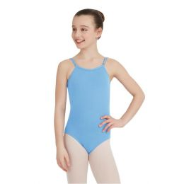 Capezio Light Blue Adjustable Strap Team Basic Childrens Camisole Leotard TB1420C-LBL