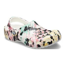Crocs Classic Womens Multi/White Tie-Dye Mania Slip On Comfort Clog 206479-928
