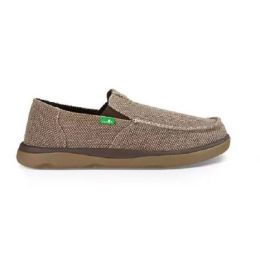 Sanuk Vagabond Tripper Brown Canvas Mens Casual 1018983-BRN