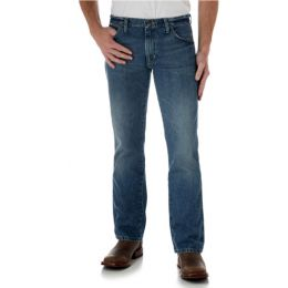77MWZWO Worn-In Vintage Patch Slim Fit Boot Cut  Wrangler Mens Jeans
