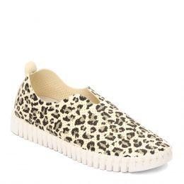 Isle Jacobsen Off White Multi Leopard Tulip Womens Comfort Slip On Shoes TULIP139LEO-121