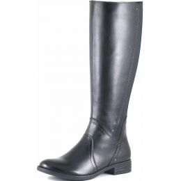 Bussola Black Twyla Vachetta Leather Womens Tall Boots