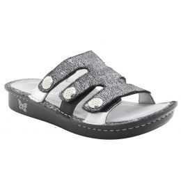 Alegria Venice Chirpy Pewter Womens Adjustable Strap Sandals VEN-900