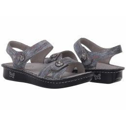 Alegria Vienna Smoke Womens Comfort Adjustable Strap Sandals VIE-123