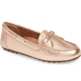 Vionic Rose Gold Virginia Womens Moccasin Flats