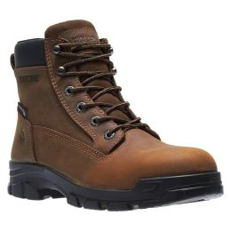 Wolverine Brown Chainhand Steel-Toe Waterproof 6 inch Mens Work Boots W10916