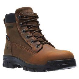 Wolverine Brown Chainhand Steel-Toe Waterproof 6 inch Mens Work Boots W10916